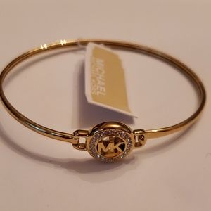 Michael Kors Nwt Gold Crystal Pave Bracelet